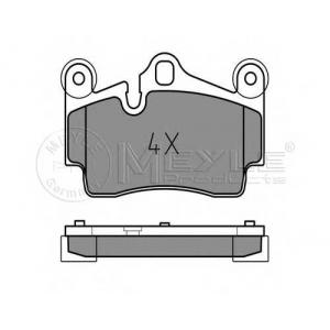 Комплект тормозных колодок, дисковый тормоз 0252369417 meyle - VW TOUAREG (7P5) вездеход закрытый 3.0 V6 TDI