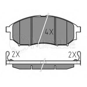 Комплект тормозных колодок, дисковый тормоз 0252369816w meyle - NISSAN NAVARA (D40) пикап 2.5 dCi 4WD