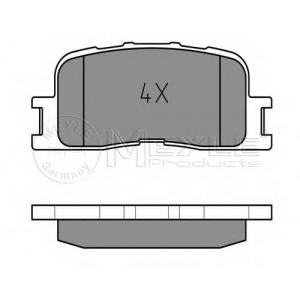 Комплект тормозных колодок, дисковый тормоз 0252370215w meyle - TOYOTA CAMRY (MCV3_, ACV3_, _XV3_) седан 2.4 VVT-i