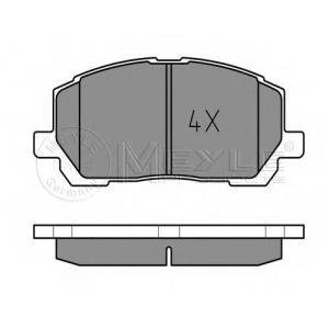 Комплект тормозных колодок, дисковый тормоз 0252370317w meyle - LEXUS RX (MCU15, XU1) вездеход закрытый 300 V6