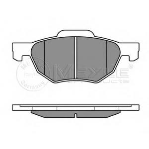 MEYLE 025 237 2017/W Тормозные колодки дисковые Honda ACCORD VIII