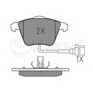 Комплект тормозных колодок, дисковый тормоз 0252380120w meyle - VW GOLF IV (1J1) Наклонная задняя часть 3.2 R32 4motion