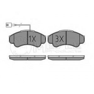 Комплект тормозных колодок, дисковый тормоз 0252391919w meyle - FIAT DUCATO фургон (230L) фургон 2.0
