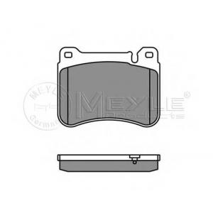 Комплект тормозных колодок, дисковый тормоз 0252394516 meyle - MERCEDES-BENZ C-CLASS (W203) седан C 180 (203.035)