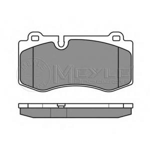 Комплект тормозных колодок, дисковый тормоз 0252396018 meyle - MERCEDES-BENZ S-CLASS (W221) седан S 350 (221.056, 221.156)