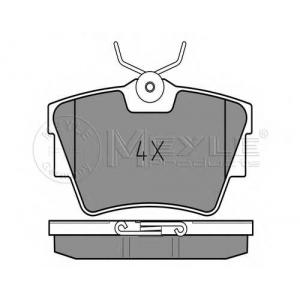 MEYLE 025 239 8017 Тормозные колодки дисковые задние Opel VIVARO