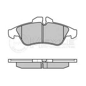 MEYLE 0252399020PD Комплект тормозных колодок, дисковый тормоз