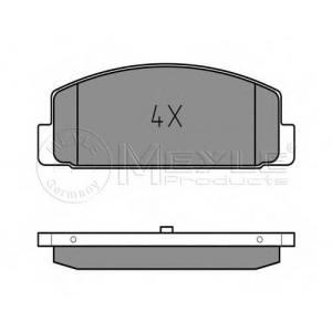Комплект тормозных колодок, дисковый тормоз 0252404514 meyle - MAZDA 626 V (GF) седан 2.0