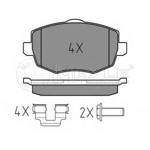 Комплект тормозных колодок, дисковый тормоз 0252407316 meyle - LANCIA YPSILON (843) Наклонная задняя часть 1.2