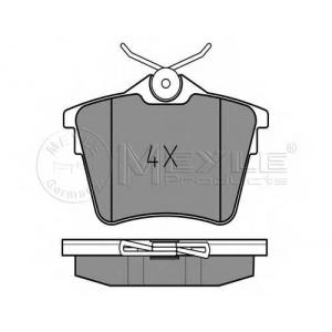 0252413517 meyle Комплект тормозных колодок, дисковый тормоз PEUGEOT 407 седан 2.0 Bioflex