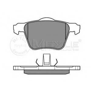 Комплект тормозных колодок, дисковый тормоз 0252414218 meyle - VOLVO S80 II (AS) седан D5