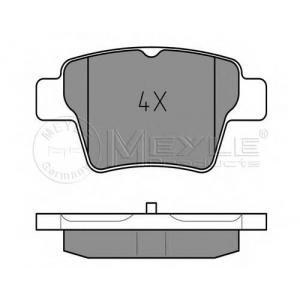Комплект тормозных колодок, дисковый тормоз 0252415017 meyle - PEUGEOT 307 (3A/C) Наклонная задняя часть 1.6 16V