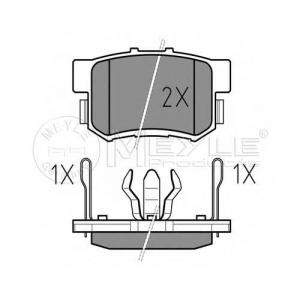 0252423114w meyle Комплект тормозных колодок, дисковый тормоз HONDA CR-V вездеход закрытый 2.0