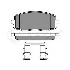 Комплект тормозных колодок, дисковый тормоз 0252427516w meyle - KIA PICANTO (BA) Наклонная задняя часть 1.1