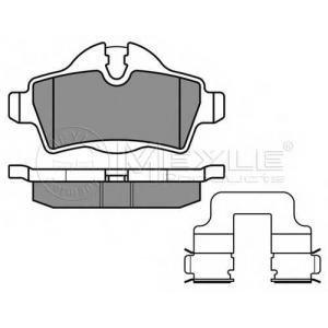 Комплект тормозных колодок, дисковый тормоз 0252428917 meyle - MINI MINI (R56) Наклонная задняя часть Cooper