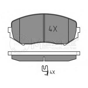 MEYLE 025 243 4617/W Тормозные колодки дисковые