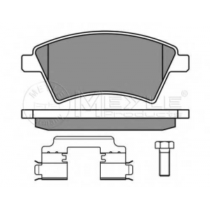 Комплект тормозных колодок, дисковый тормоз 0252439116w meyle - SUZUKI SX4 (GY) Наклонная задняя часть 1.5 VVT