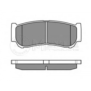 Комплект тормозных колодок, дисковый тормоз 0252448816w meyle - HYUNDAI SANTA F? I (SM) вездеход закрытый 2.2 CRDi 4x4