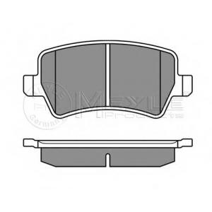 Комплект тормозных колодок, дисковый тормоз 0252449617 meyle - VOLVO S80 II (AS) седан D5
