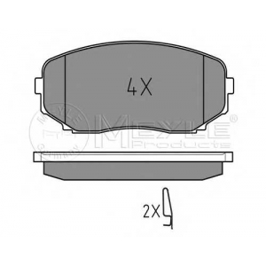 MEYLE 025 245 4417/W Тормозные колодки дисковые