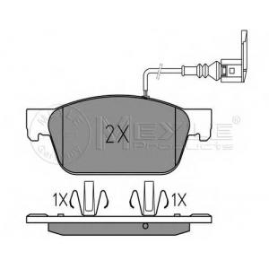 Комплект тормозных колодок, дисковый тормоз 0252462318w meyle - VW MULTIVAN V (7HM, 7HN, 7HF, 7EF, 7EM, 7EN) вэн 2.0 TDI