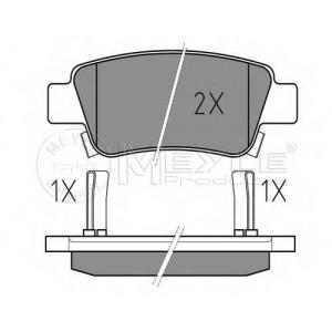 Комплект тормозных колодок, дисковый тормоз 0252463516w meyle - HONDA CR-V III вездеход закрытый 2.4 i-VTEC