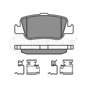 Комплект тормозных колодок, дисковый тормоз 0252466415w meyle - TOYOTA AURIS (ZZE15_, ADE15_, ZRE15_, NDE15_) Наклонная задняя часть 2.2 D