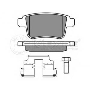 Комплект тормозных колодок, дисковый тормоз 0252469216 meyle - RENAULT KANGOO (KW0/1_) вэн 1.6 (KW00, KW0Y)
