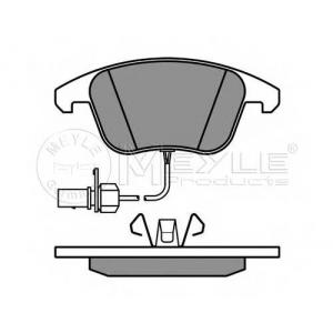 Комплект тормозных колодок, дисковый тормоз 0252470520w meyle - AUDI A5 (8T3) купе 1.8 TFSI