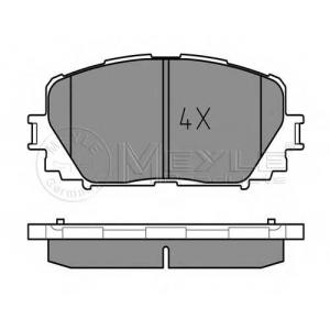 MEYLE 025 247 0817 Тормозные колодки дисковые