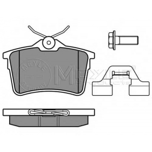 Комплект тормозных колодок, дисковый тормоз 0252476516w meyle - PEUGEOT PARTNER фургон фургон 1.6
