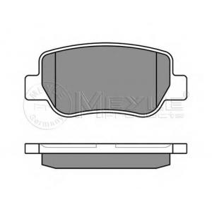 Комплект тормозных колодок, дисковый тормоз 0252488516w meyle - TOYOTA AVENSIS седан (T27) седан 1.6