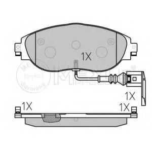 Тормозные колодки дисковые 0252511720w meyle -
