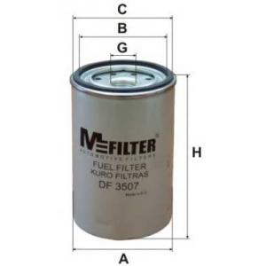 MFILTER DF 3507 Фильтр топливный D93.6 h142.5 1-14 UNS
