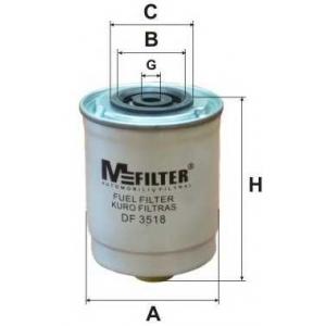 M-FILTER DF3518 Фильтр топл. FORD Transit 2.5 (пр-во M-Filter)
