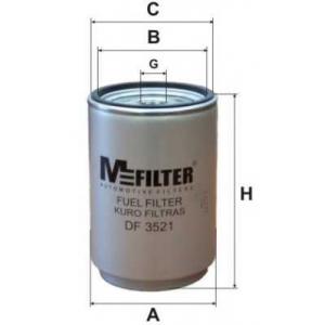 M-FILTER DF3521 Фильтр топл. Renault, Volvo Trucks (пр-во M-filter)