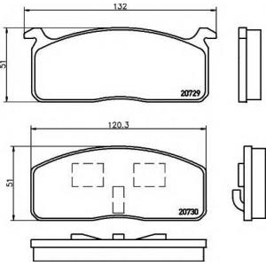MINTEX MDB1144 Комплект тормозных колодок, дисковый тормоз