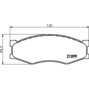 MINTEX MDB1279 Комплект тормозных колодок, дисковый тормоз Инфинити