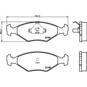MINTEX MDB1513 Комплект тормозных колодок, дисковый тормоз Фиат Премио