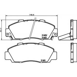 MINTEX MDB1543 Комплект тормозных колодок, дисковый тормоз Акура Нсх