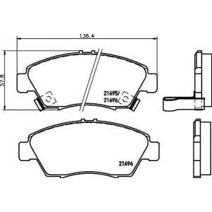MINTEX MDB1610 Тормозные  колодки