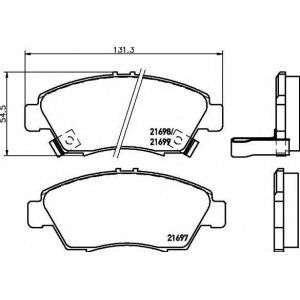MINTEX MDB1615 Тормозные колодки