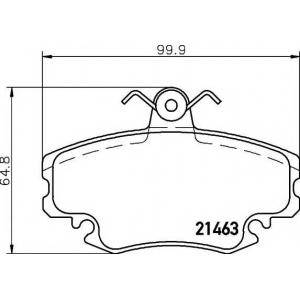 MINTEX MDB1628 Комплект тормозных колодок, дисковый тормоз Дача Соленза