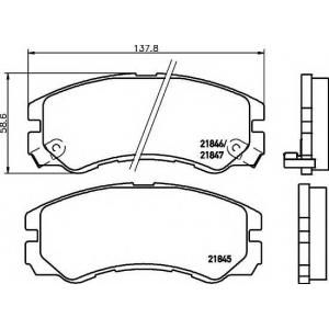 MINTEX MDB1685 ТОРМОЗНЫЕ КОЛОДКИ  (дисков торм.)