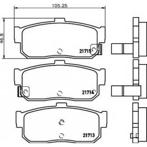 MINTEX MDB1707 Тормозные колодки