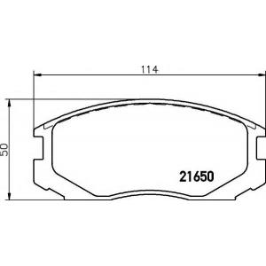 MINTEX MDB1722 Комплект тормозных колодок, дисковый тормоз Дайхатсу Астраи