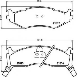 MINTEX MDB1789 Комплект тормозных колодок, дисковый тормоз Крайслер Le