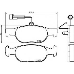 MINTEX MDB1828 Тормозные  колодки