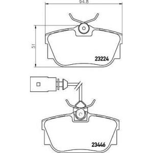 MINTEX MDB2113 Тормозные колодки (c датчиком)