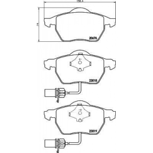 MINTEX MDB2231 Тормозные колодки